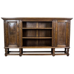 Solid, Oak Bookcase from the 1940s