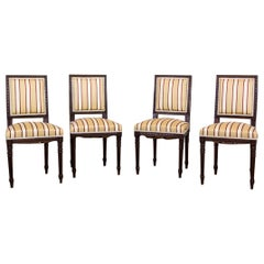 Softly Upholstered Chairs in the Louis XVI Type, circa Early 20th Century