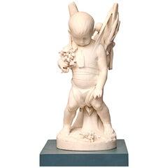 Louis Hasselriis Marble Sculpture, circa 1900