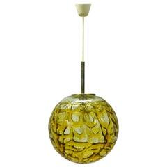 "Large Dorian Murano Glass Globe Brass ""1970"""