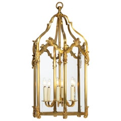 Late 19th Century French Hexagonal Ormolu Hanging Lantern