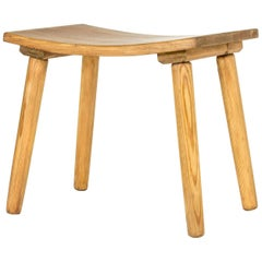 Swedish 1930s Wooden Stool