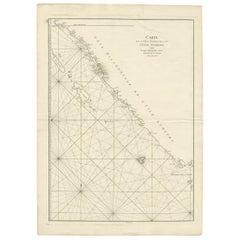 Antique Coastal Map of Sumatra by De La Haye, circa 1780