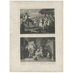 Antique print of Hudibras by T. Cook, circa 1810