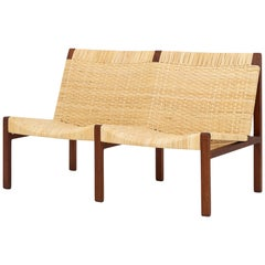 2-Seat Bench in Teak by Aksel Bender Madsen & Ejner Larsen