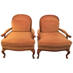 French Provincial Bergere Chairs