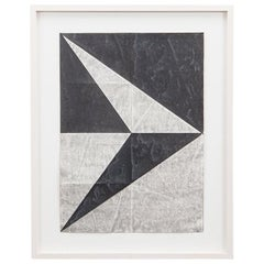 1960s Black and Grey Tempera on Paper by Hermann Glöckner