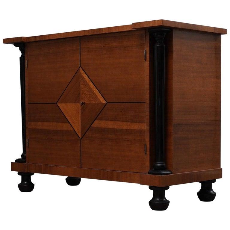 Art Deco Pearwood Austrian Sideboard, 1930 For Sale