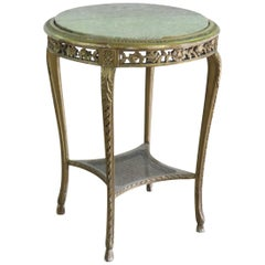French Marble-Top Side Table