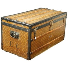 Louis Vuitton Steamer Trunk Woven Canvas, 1900s