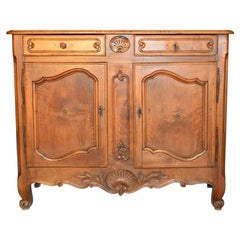 Louis XV Sideboard in Blond Walnut of French Origin, Dated 1770