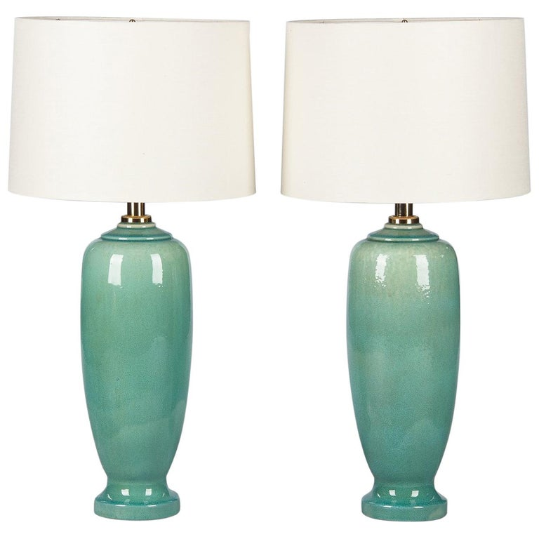 Pair of Spanish Ceramic Lamps by Acanto Division, 1960s For Sale