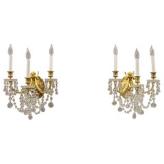 Pair of Late 19th Century Sconces by La Compagnie des Cristalleries de Baccarat