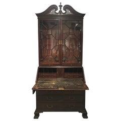 Chippendale Secretaire oder Schreibtisch, circa 1790