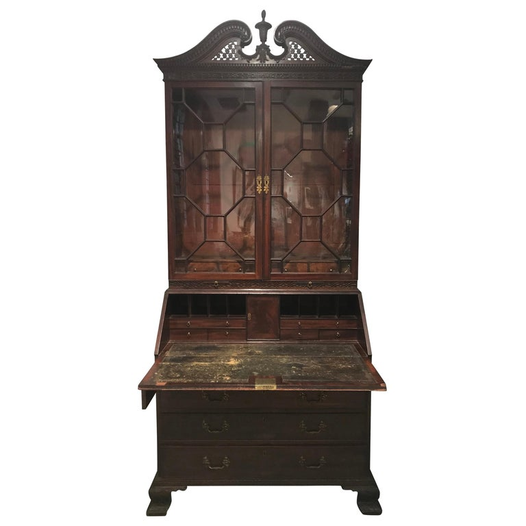 Chippendale Secretary or Desk, circa 1790