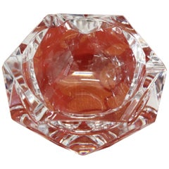 20th Century Belgian Val Saint Lambert Crystal Ashtray, 1980s
