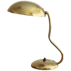 Valinte OY, Modernist Organic Table Lamp, Brass, Bakelite, Finland, 1950s