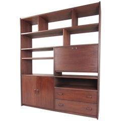 Mid Century Modern Walnut Bookshelf