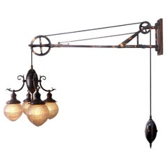 1912 Trenaman Swing Arm Dental Pulley Lamp