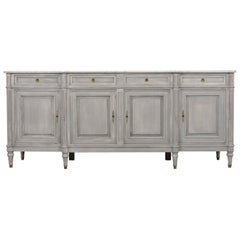 Fully Restored 1950s Louis XVI Style Buffet with Marble Top