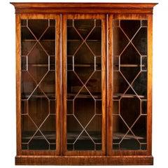 19th Century Large-Scale Mahogany Bookcase Cabinet