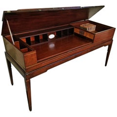 18th Century British Mahogany and Satinwood Bureau