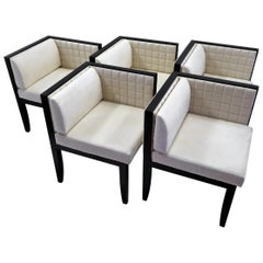 Pietro Costantini Yale Corner Chairs in Quilted Ultrasuede