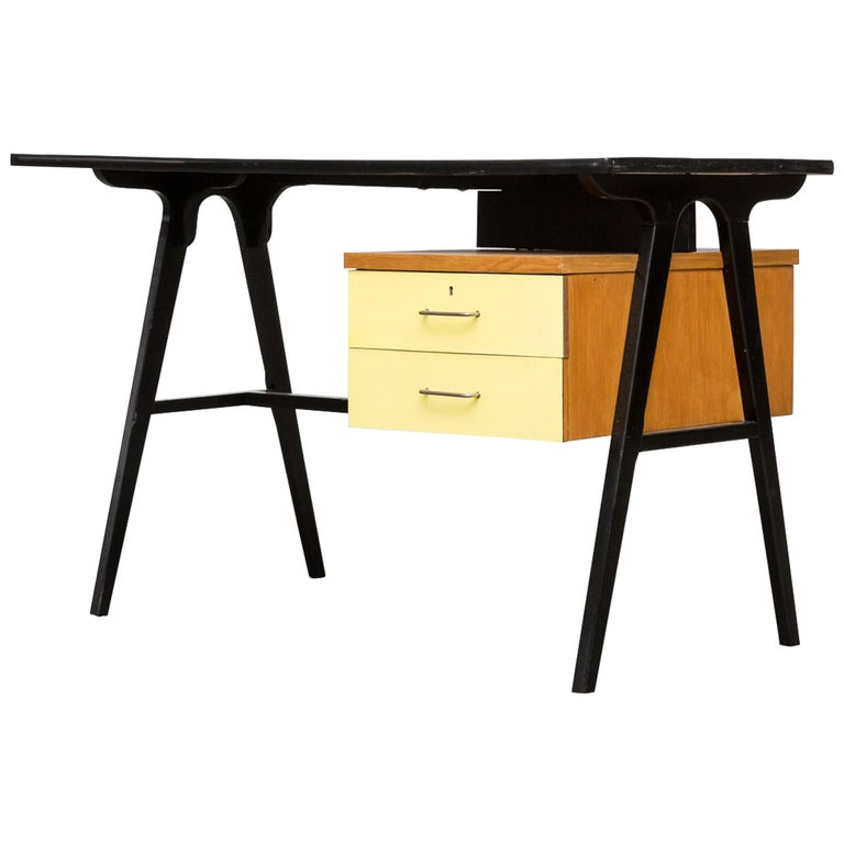 Coen de Vries Style Multicolored Writing Desk