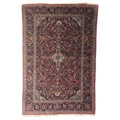Vintage Fine Persian Kashan Rug