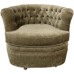 Tufted Chenille Club Chair