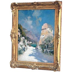 Provence Seascape Oil on Canvas Raymond Allegre