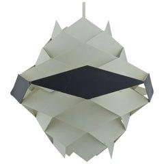 Danish Modern Pendant Lamp Post and Beam Kitchen Midcentury Cabin Geometric