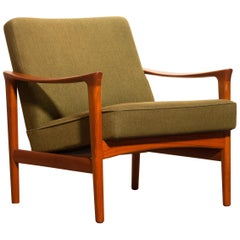 1960s, Teak Lounge Chair by Erik Wørts for Bröderna Andersson