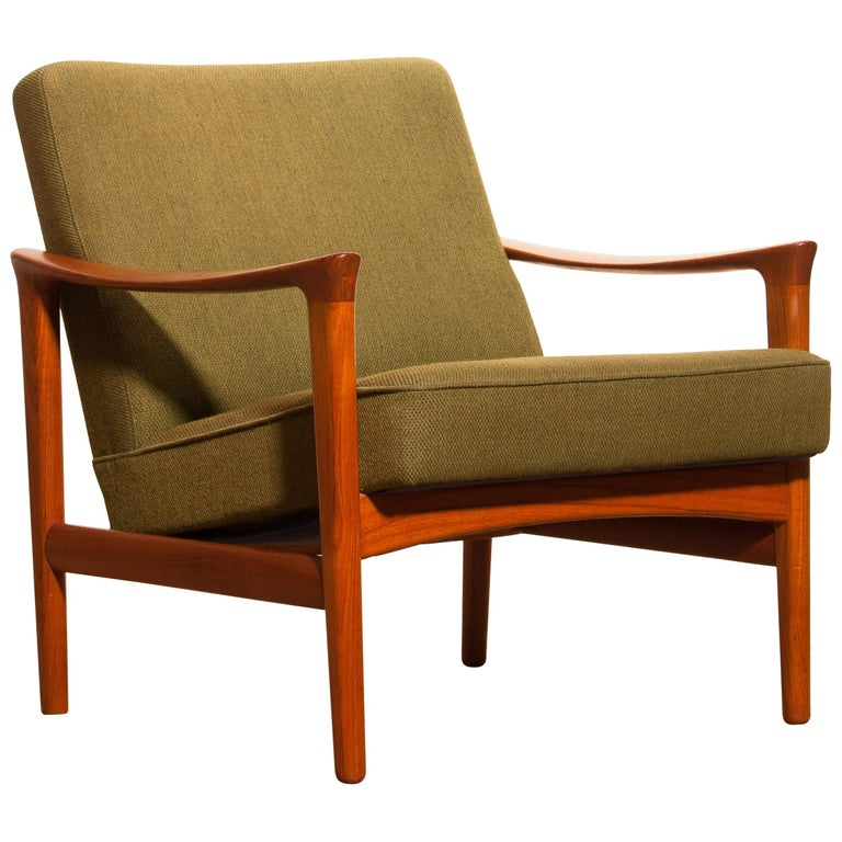 1960s, Teak Lounge Chair by Erik Wørts for Bröderna Andersson For Sale