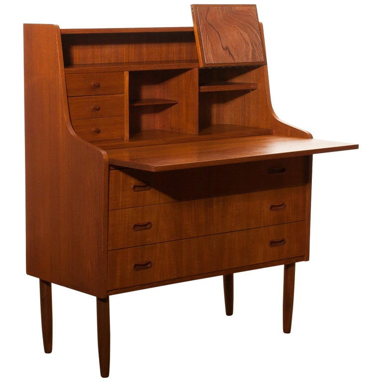 1950s, Teak Secretaire or Dressing Table in Style of Peter Hvind For Sale