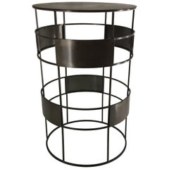 New Handmade Bistro High Table in Wrought Iron, Customizable