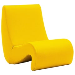 Vitra Amoebe Chair in Dark Yellow by Verner Panton
