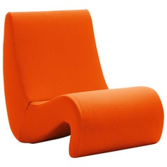 Vitra Amoebe Chair in Dark Orange by Verner Panton