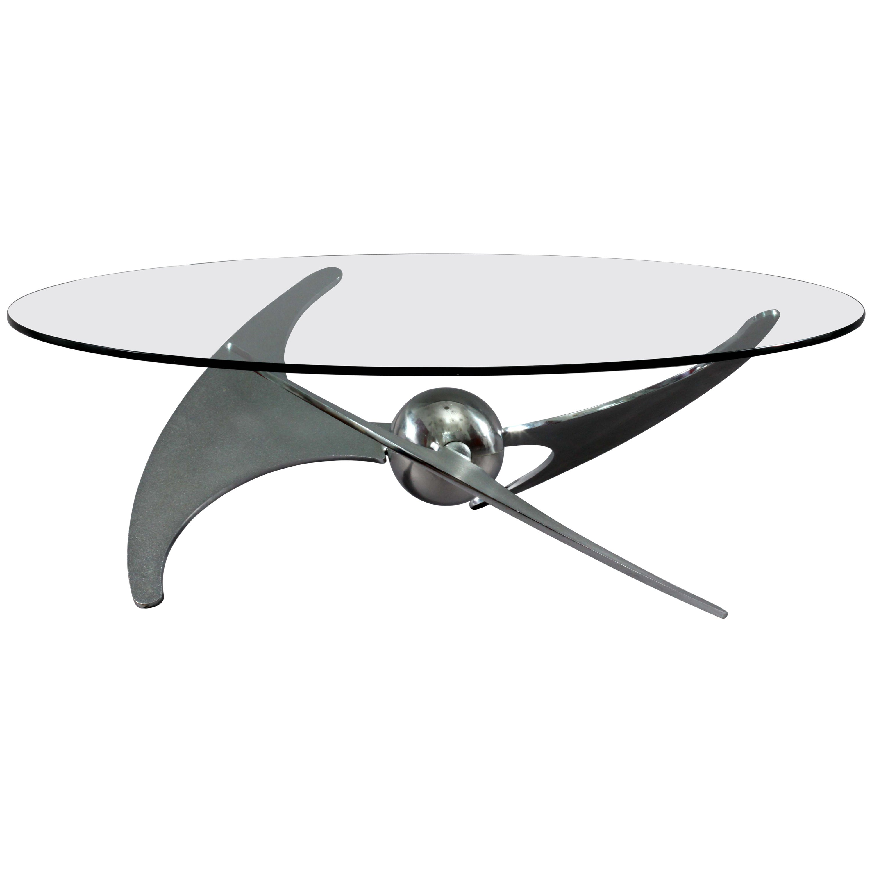Height Adjustable Coffe or Diningtable L.Campanini for Carma, Italy, 1973