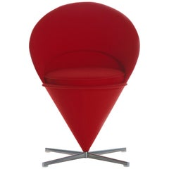 Vitra Cone Chair in Red by Verner Panton
