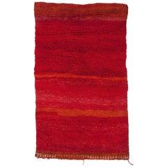 Vintage Moroccan Mrirt Berber Rug, Unicolor