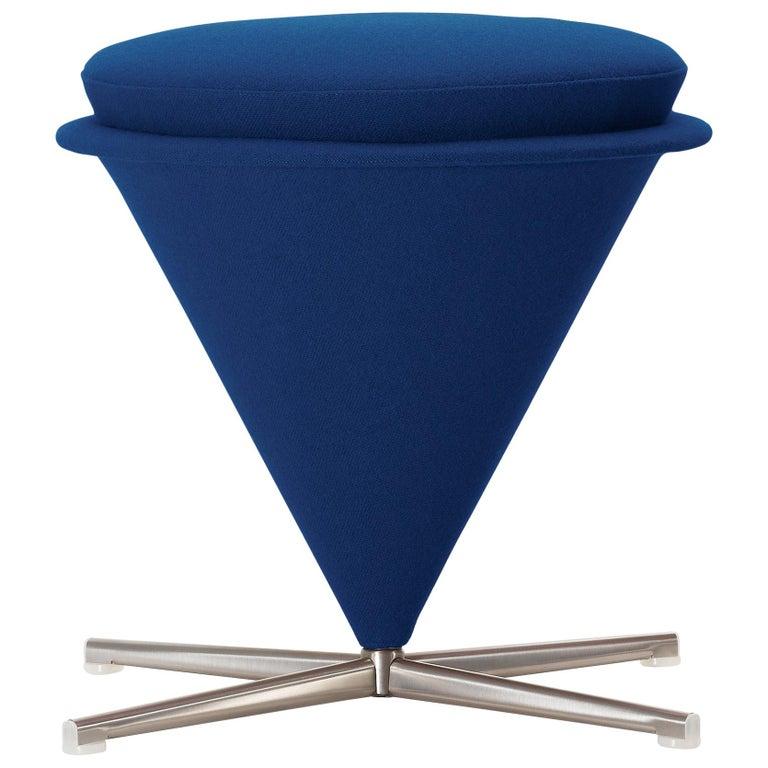 Vitra Cone Stool in Dark Blue by Verner Panton