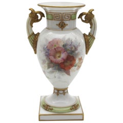 Old Small KPM Berlin Porcelain Vase with Weichmalerei Painting and Putto