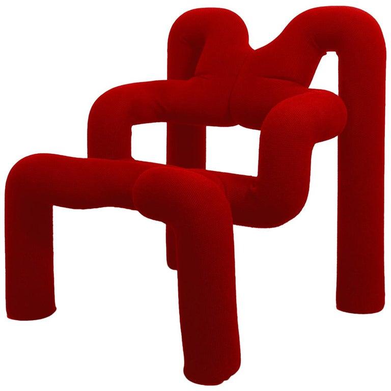 Iconic Red Armchair by Terje Ekstrom, Norway, 1980s