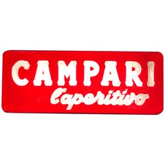 1970s Vintage Italian Campari L'aperitivo Campari the Aperitif Illuminated Sign