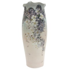 Big KPM Berlin Porcelain Art Nouveau, Bottom Vase with Weichmalerei Painting