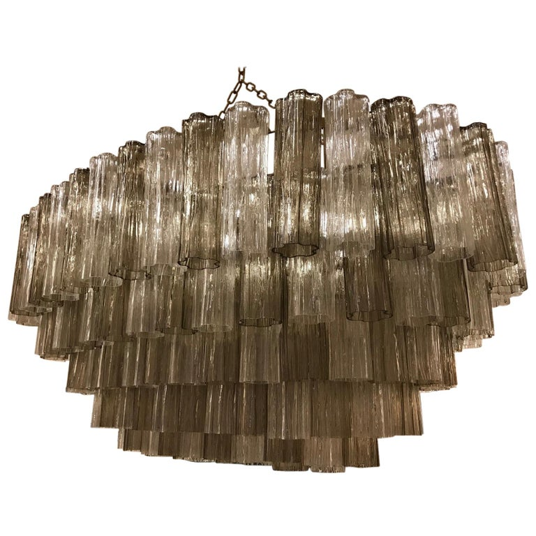 Art Deco Murano Glass Chandelier For Sale
