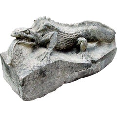 Composition Stone Figure of a Salamander