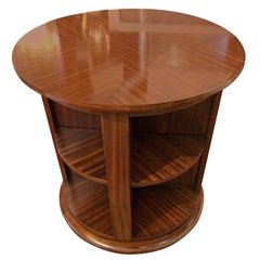 Stunning Zebrawood Rotating Library Table