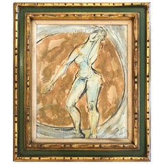 Sophisticated Abstract Nude Painting by Auguste Herbin